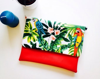 Colorful tropical flap pocket