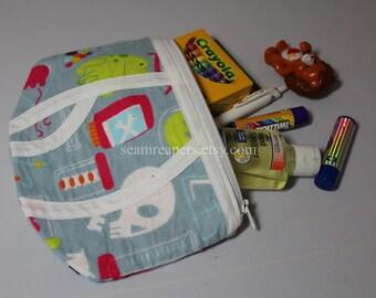 science lab zipper underwear purse
