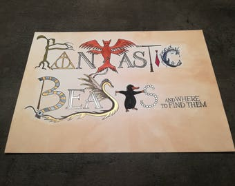 Fantastic Beasts and where to find them painting
