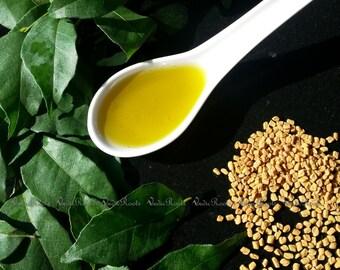 Ayurvedic curry leaf,fenugreek,neem hair oil-Leave in light conditioning hair oil-Hair growthTonic-Hair Serum-Hair strengthening-vedic roots