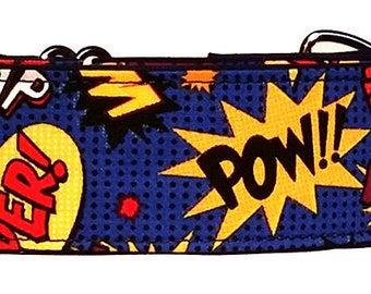 "Super Hero 2""  Martingale Collar-"