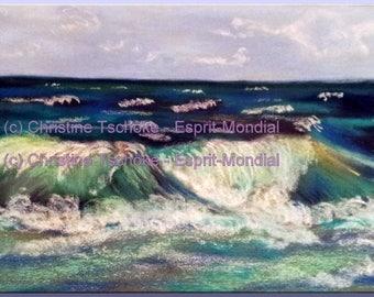 """Digital file to download from my original artwork """"Surf Atlantic"""" (1JPG)"""