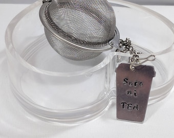 Tea Ball, beauTEAful, Loose Leaf Tea Ball, Gift for a Friend, Housewarming Gift, Tea Time, Tea Lover Gift, Eco Friendly Gift, Beautiful