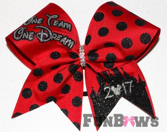 One Team One Dream Disney inspired Cheer allstar bow by FunBows !