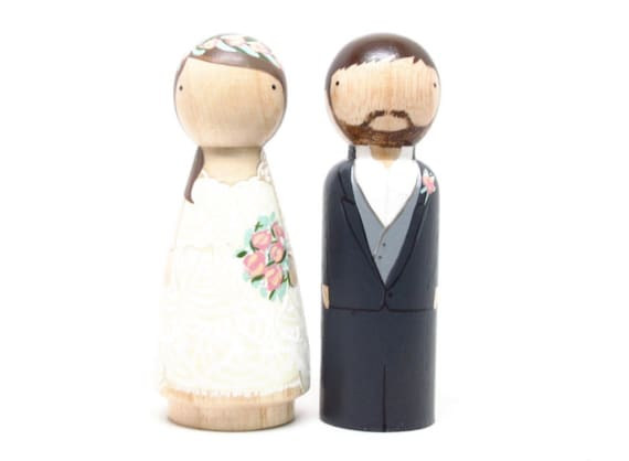 wedding cake toppers wooden dolls cake topper wedding cake topper peg dolls wooden cake 26642