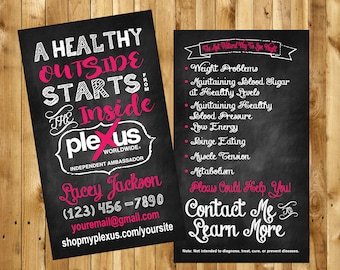 Our New Plexus Chalkboard Business Cards Swag