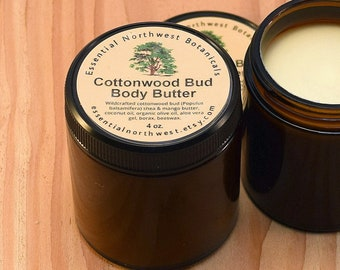 Cottonwood Body Butter - 4 oz. or 9 oz. - Wild & Organic - Whipped -  Naturally scented