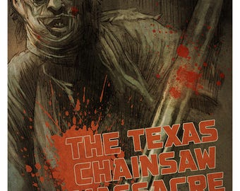 The TEXAS CHAINSAW MASSACRE movie poster full colour art print