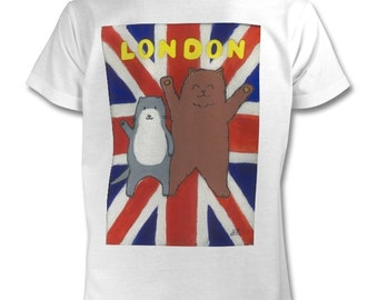 Kids T-Shirt: Otter and Animal in London
