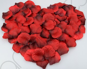 1000 Silk Rose Petal Flower Confetti Engagement Celebration Wedding Decoration (Brushed Burgundy)