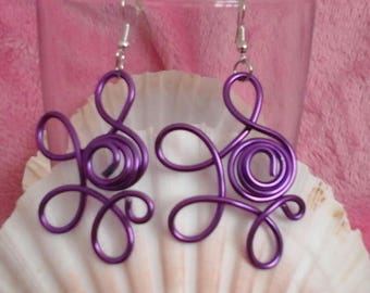 Clear 2mm lilac purple aluminum wire