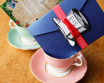 Mad Hatters Tea Party / Alice Inspired Invitations