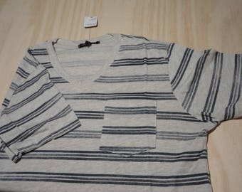 Mens V-Neck Stripes Shirt