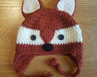 Fox ear flap hat