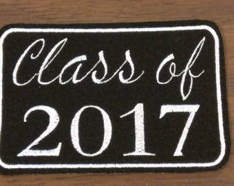 Personalized Class of 2018 embroidered iron on patch