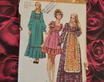 70's Vintage Dress sewing Pattern