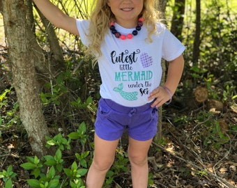 Cutest Little Mermaid - CER designs - Kids shirts - Little girls clothes - adorable kids clothes