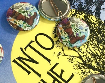 into the woods broadway mini pin theatre button playbill pin broadway baby bookish pin faerie tale feet art boot pin