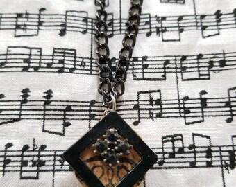 Geometric Upcyled Cork Necklace