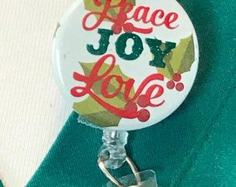 Christmas badge reel, Christmas badge clip, Christmas badge holder, Christmas badge, Nurse badge reel, Badge reel nurse, Badge reel