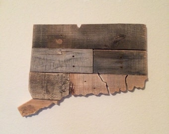 Connecticut State Sign | Reclaimed Wood | Pallet Sign | Home Decor | Wall Art | Rustic Decor | Barn wood |