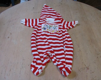 Little Me Label - newborn Christmas sleeper with matching hat - vintage