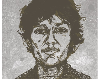 Richard Ramirez Illustrated Art Print