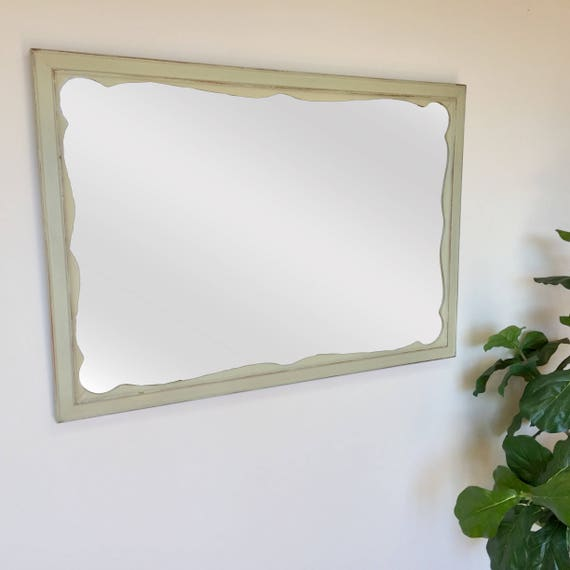 Shabby Chic Mirror - French Country Decor - Framed Bathroom Mirror - Rustic Farmhouse Decor - Distressed Mirror - Ornate Mirror