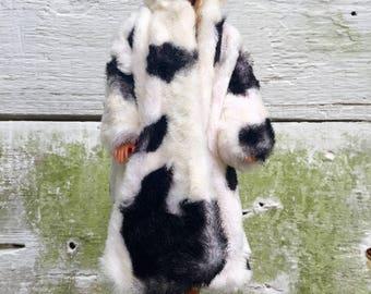 ON SALE!! Barbie Doll Faux Fur Coat Vintage 1960s Handmade