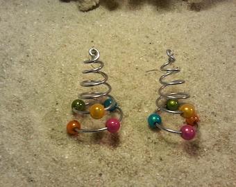 Multicolor Pearl swirl earrings