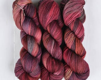 NEW COLORWAY! Hand Dyed Tough Sock Yarn - Light Volturi