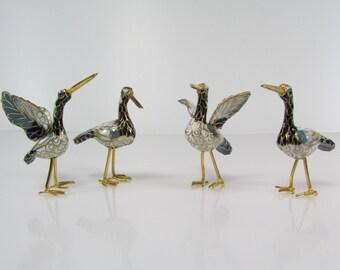 Miniature birds in Cloisonnè