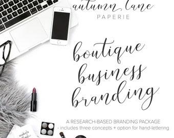 Boutique Business Branding Package - Custom Logo - Handlettered Logo - OOAK Logo - Hand-lettered Custom Logo - Luxury Branding - Feminine