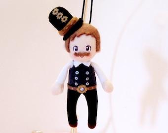 Steampunk Plush Doll Christmas Ornament