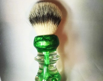 Green and Clear Shaving Brush.