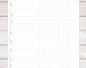 Product Inventory Tracker, Plan Your Week, Organized, Editable, Small Business Planner, Handmade Creations