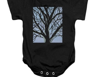 Tree in Winter Baby Onesie