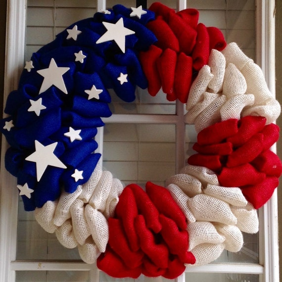 Fourth Of July Wreath Grapevine
