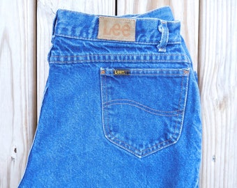 Waist 32 Lee jeans Vintage 1980s Long High waisted High rise Mom jeans 1970s Lee jeans Classic Lee Jeans Womens Lee jeans