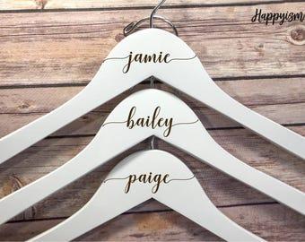 SALE Engraved Bridesmaid Hanger, Engraved Hanger, Name Hanger, Wedding Hanger, Personalized Bridal hanger, Bridal Gift, Bridesmaid gift