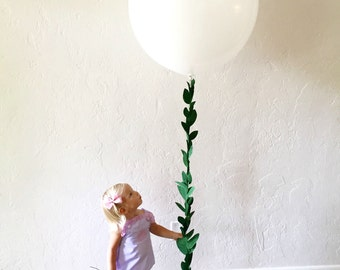 Greenery Garland Balloon Garland, faux greenery garland, big balloon tassel, greenery garland balloon, leaf garland, greenery garland,