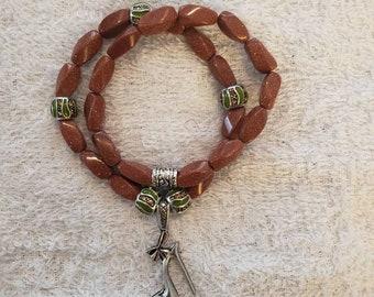Terracotta orange twist stretch bracelet set