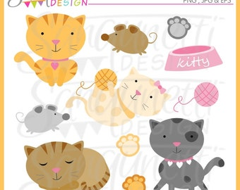 Cat clipart, cat clip art, kitten clipart, animal clipart, kitty clipart, instant download