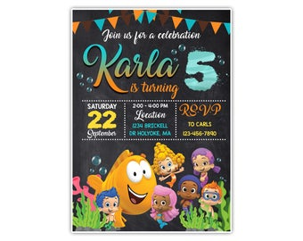 Bubble Guppies Invitation,Bubble Guppies Birthday,Bubble Guppies Birthday Invitation,Bubble Guppies Birthday Party