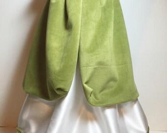 "Celtic Princess Cape & Dress Green White OOAK Gold Trim Fits 18"" Dolls"