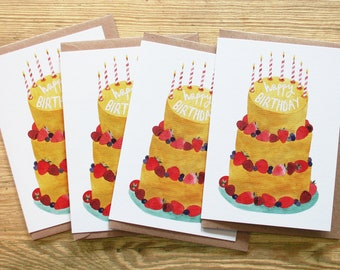 4 x 'Happy Birthday' cards