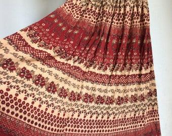 Vintage Indian long skirt size 6 - 12 hippy festival 70's/80's