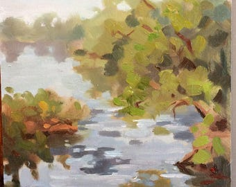 original oil painting landscape 6x8 inches