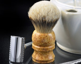 Silvertip Badger shaving brush with spalted box elder handle
