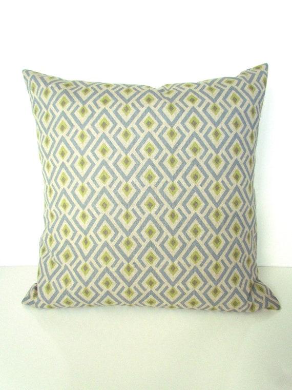 BLUE PILLOW Gray Decorative Throw Pillows Lime Throw Pillow Beauteous Blue And Gray Decorative Pillows
